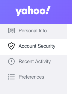 yahoo account security option
