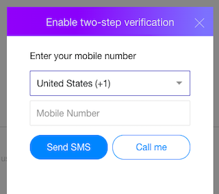 Activate Yahoo two step verification