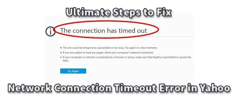 Network Connection Timeout Error in Yahoo