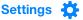 Yahoo settings gear icon
